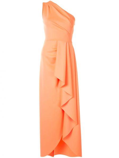 Платье на одно плечо персиковое Black Halo
