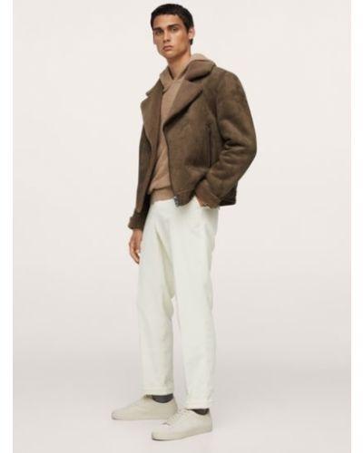 Куртка авиатор - коричневая Mango