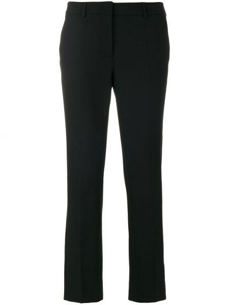 Укороченные брюки черные Incotex