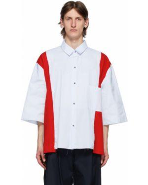 Синяя облегченная рубашка с воротником с заплатками Camiel Fortgens