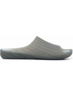 Серые слиперы без застежки с открытым носком Camper