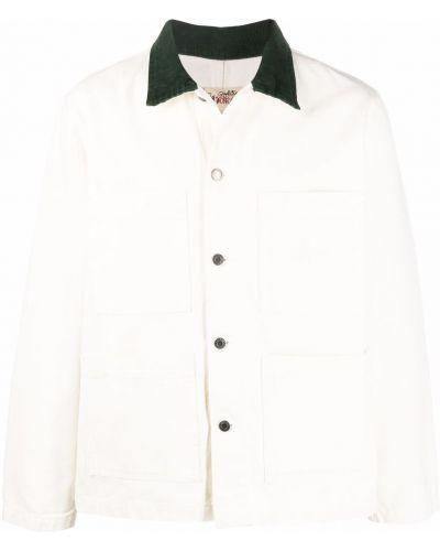 Длинная куртка - белая Stussy