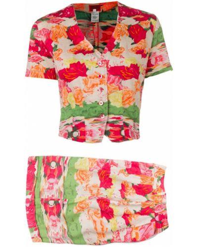 Блузка розовая с поясом Kenzo Vintage