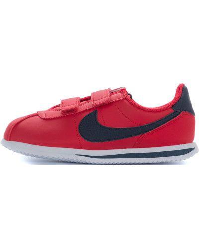 Базовые красные кожаные кроссовки Nike