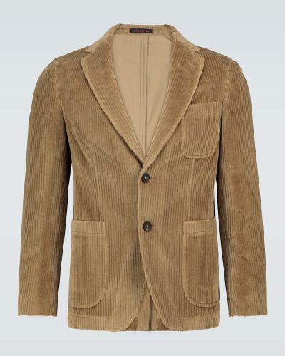 Однобортный коричневый пиджак вельветовый Thegigi