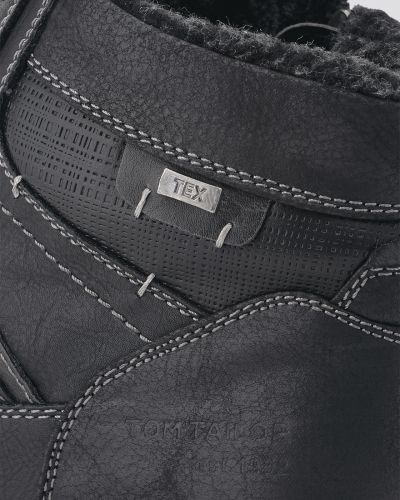Черные ботинки Tom Tailor