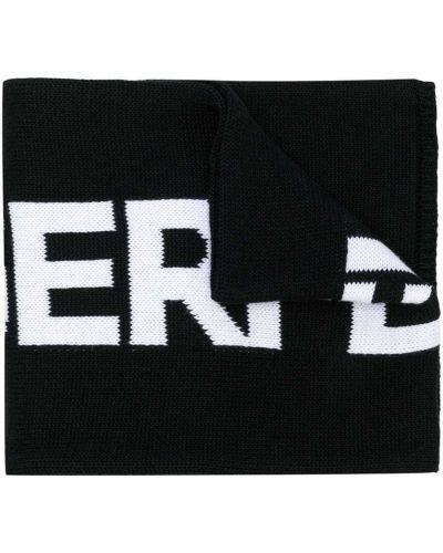 Хлопковый белый шарф вязаный Karl Lagerfeld Kids