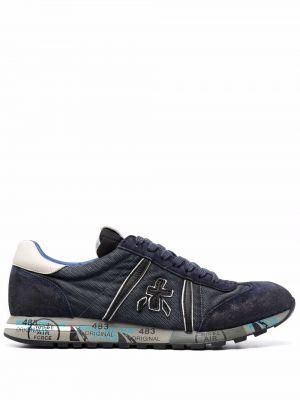 Кожаные кроссовки - синие Premiata