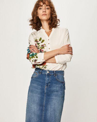 Блузка с длинным рукавом из вискозы с V-образным вырезом Desigual