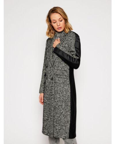 Szary płaszcz wełniany Calvin Klein