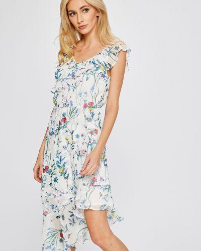 Платье мини в полоску с запахом Answear