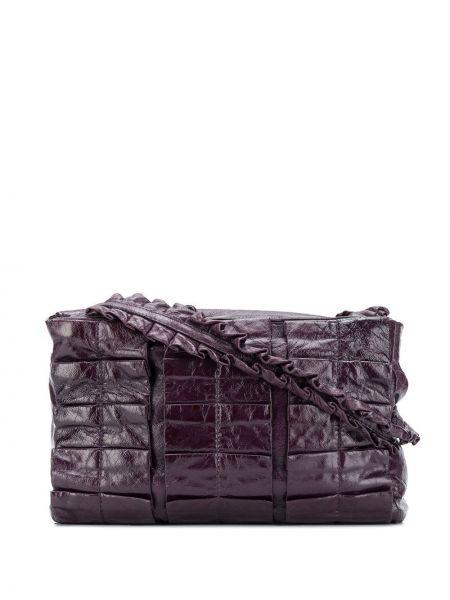 Фиолетовая маленькая сумка на молнии с карманами со вставками Miu Miu Pre-owned