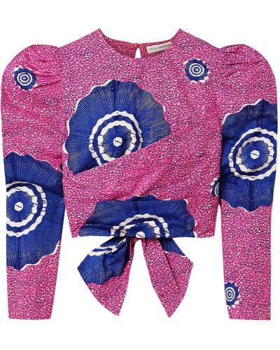 Розовая открытая блузка с вырезом Ulla Johnson