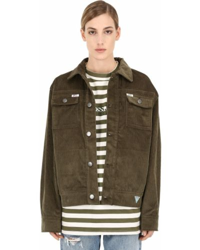 Куртка вельветовая - зеленая Guess Jeans U.s.a.x Infinite Archives