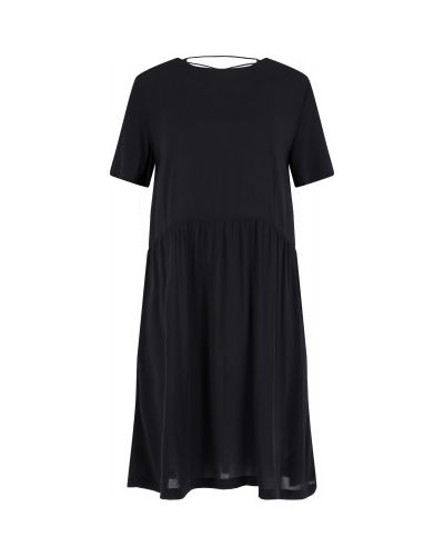 Прямое черное платье из вискозы Termit