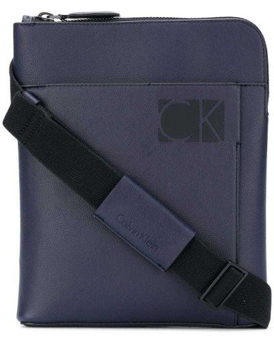 Синяя сумка на плечо Calvin Klein