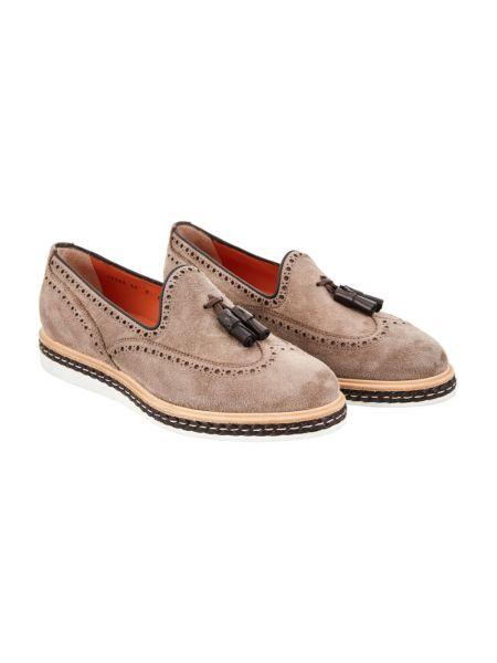 Beżowe loafers Santoni
