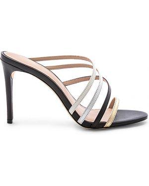 Czarne sandały skorzane vintage Rachel Zoe
