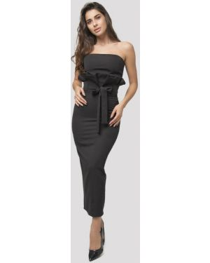 Черный вязаный юбочный костюм Lipinskaya Brand