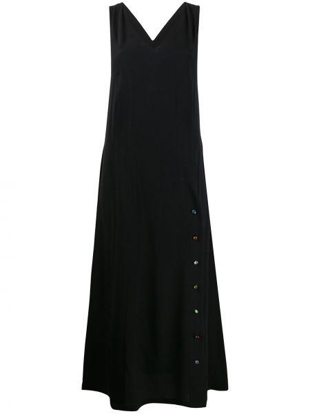 Шелковое платье макси - черное Frankie Morello