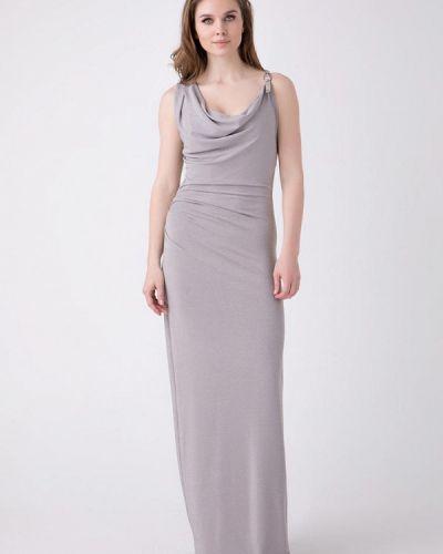 Серое вечернее платье Ricamare