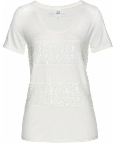Блузка с пайетками в полоску Bonprix