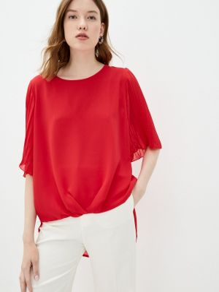Красная блузка с коротким рукавом Zabaione