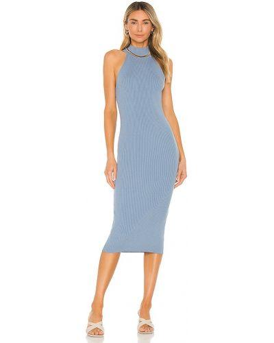 Синее платье винтажное Line & Dot