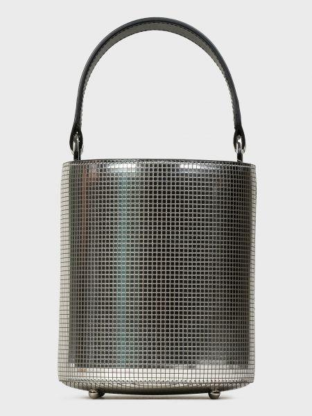 Кожаная серебряная кожаная сумка Les Petits Joueurs