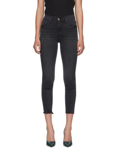 Укороченные джинсы с манжетами скинни Frame