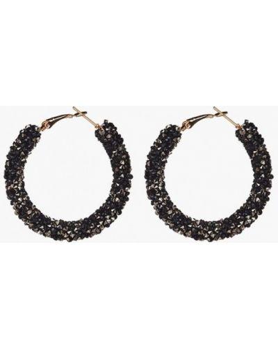 Черные серьги-кольца Nothing But Love