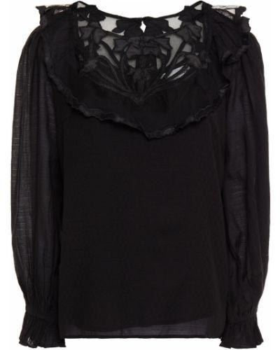 Satynowa bluzka - czarna Antik Batik