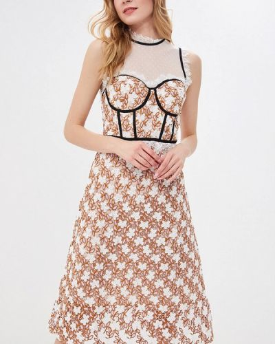 Вечернее платье декаданс бежевое True Decadence