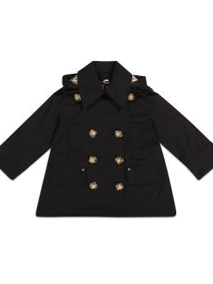 Bawełna bawełna czarny klasyczny klasyczny płaszcz Burberry Kids