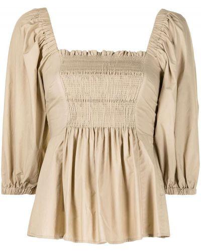 Коричневая блузка квадратная с вырезом P.a.r.o.s.h.
