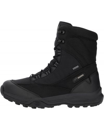 Черные кожаные сапоги на шнуровке Tecnica