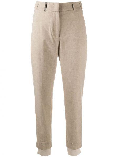Шерстяные укороченные брюки с высокой посадкой с потайной застежкой Peserico