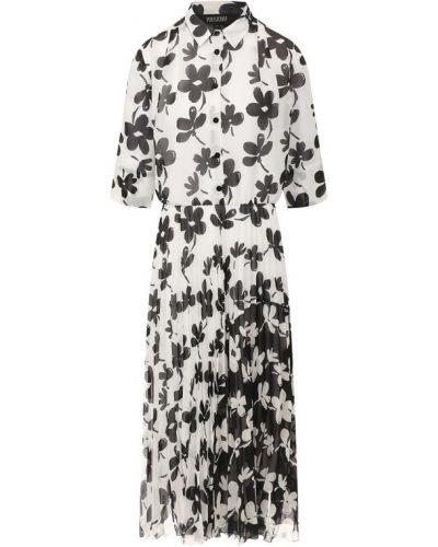 Платье из вискозы - белое Poustovit