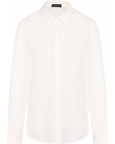 Блузка прямая шелковая Emporio Armani