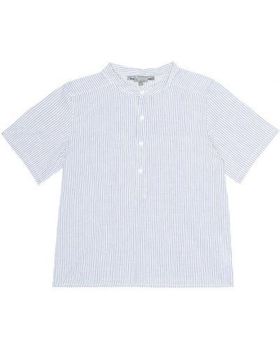 Рубашка белая в полоску Bonpoint