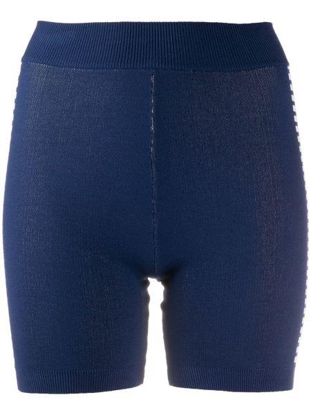 Niebieskie szorty z wysokim stanem bawełniane Nagnata