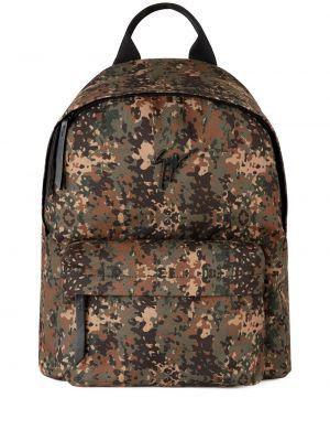 Włókienniczy brązowy plecak z kieszeniami Giuseppe Zanotti