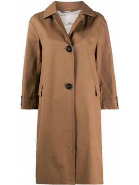 Пальто классическое на пуговицах с воротником Max Mara