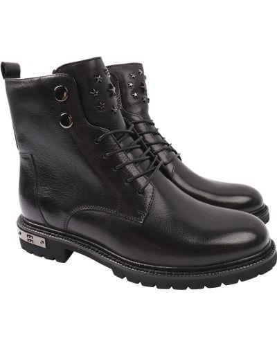 Кожаные ботинки - черные Anemone