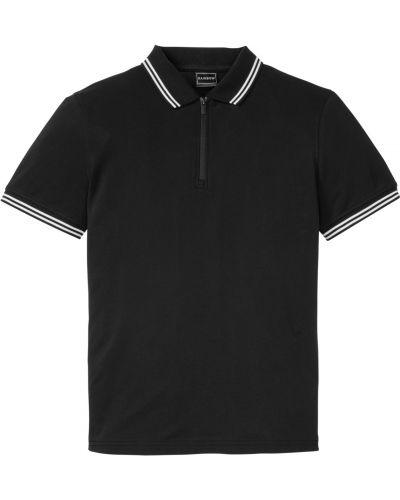 Черная футболка на молнии Bonprix
