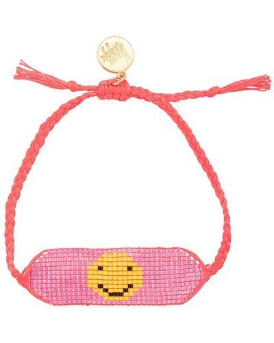 Розовый золотой браслет с бисером Venessa Arizaga