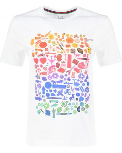 Хлопковая футболка - белая Paul Smith