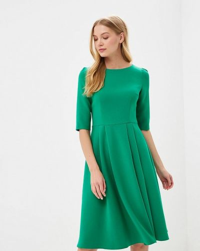 Зеленое платье с длинными рукавами Vladi Collection