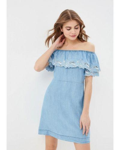 Джинсовое платье с открытыми плечами Pepe Jeans