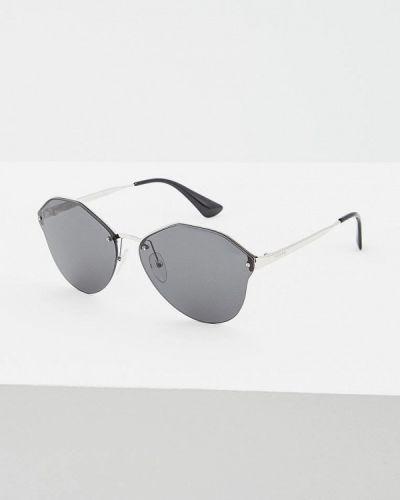 Солнцезащитные очки круглые итальянский Prada